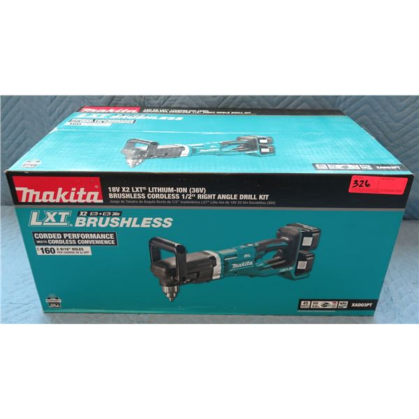 Makita LXT Lithium-Ion Brushless Cordless Right Angle Drill Kit XAD03PT New in Box