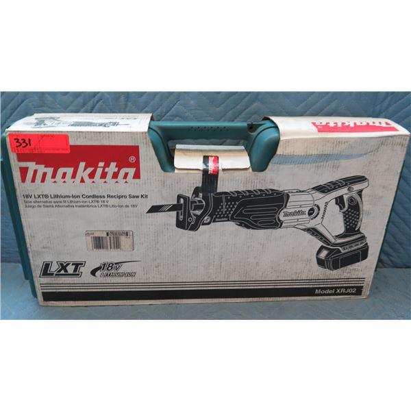 Makita LXT Lithium-Ion Cordless Recipro Saw  Kit Model XRJ02 New in Box