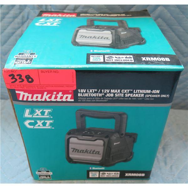 Makita LXT 12V Max CXT Bluetooth Job Site Speaker Model XRM08B New in Box