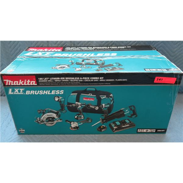 Makita LXT Brushless 3-Piece Combo Kit: Hammer Drill, Impact Driver, Circular Saw