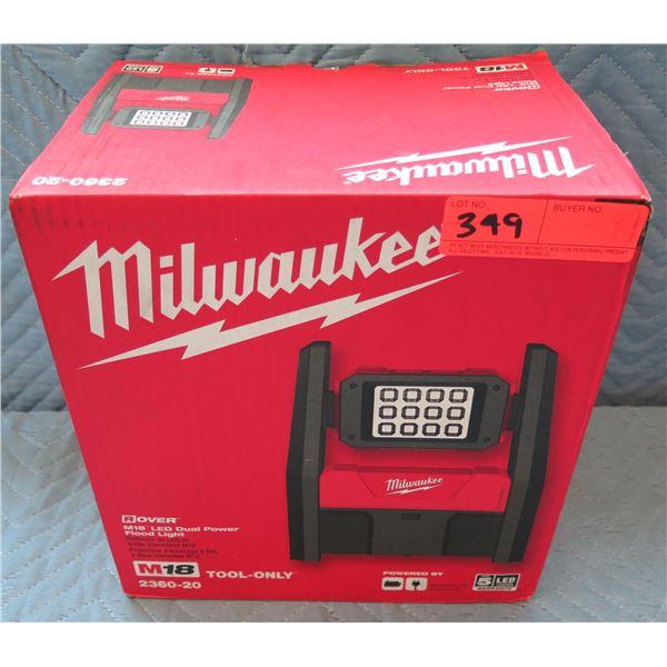 Milwaukee Rover M18 LED Dual Power Flood Light Model 2360-20 New in Box
