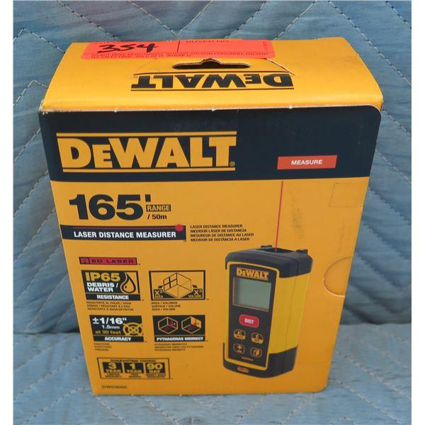 DeWalt Laser Distance Measure 165' Range Model DW03050 New in Box