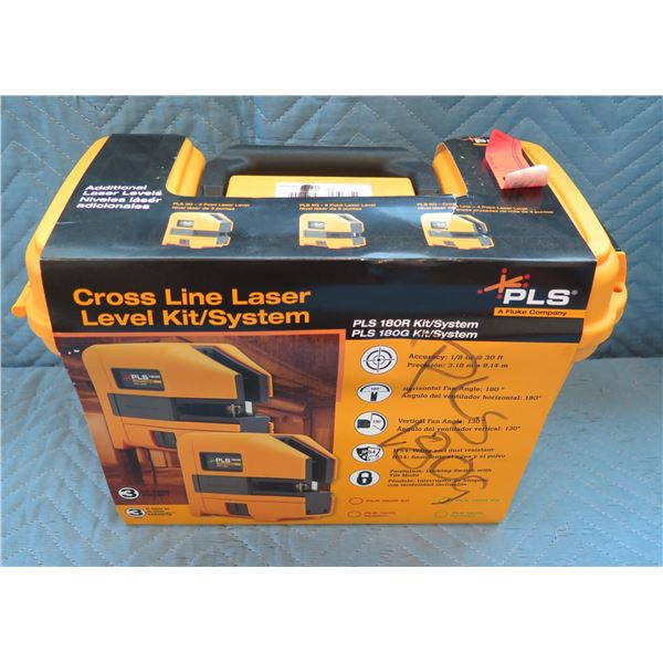 Pacific Laser Systems PLS Cross Line Laser Level Kit/System New in Hard Case