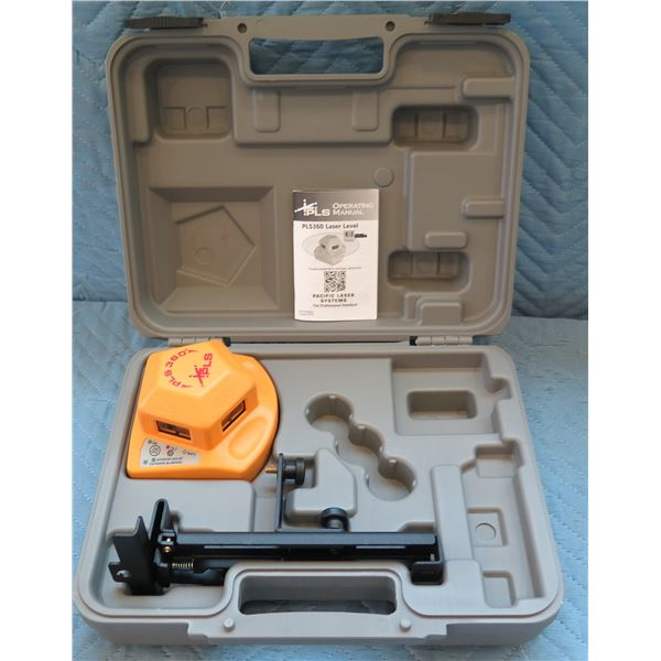 Pacific Laser Systems 360 Self Leveling Laser PLS360 in Hard Case