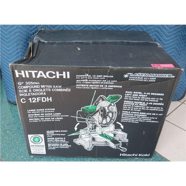 """Hitachi 12"""" 305mm Compound Miter Saw Model C 12FDH New in Box"""