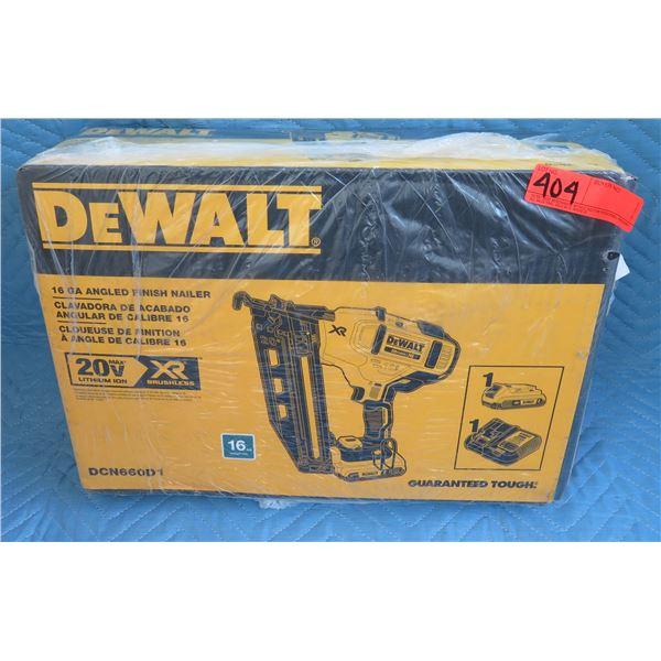 DeWalt DCN660D1 Angled Finish Nailer Model  New in Box