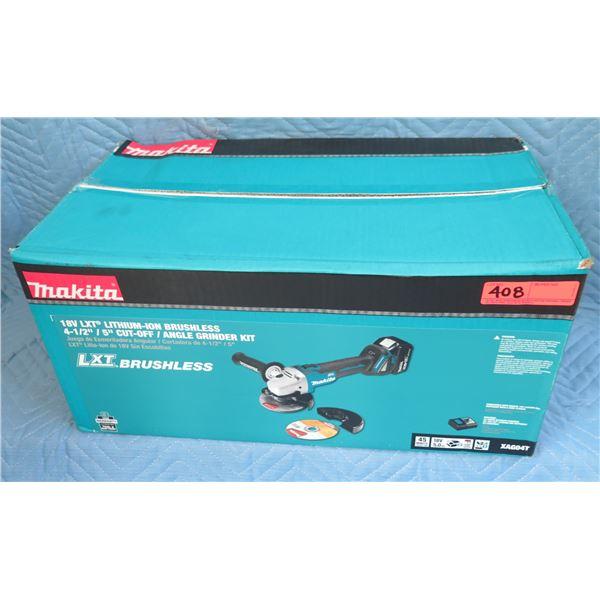 "Makita XAG04T LXT Brushless 4-1/2"" Angle Grinder Kit New in Box"