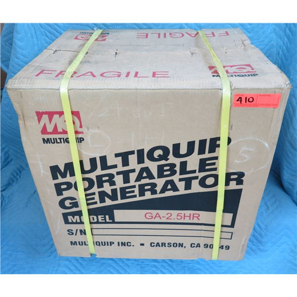 MultiQuip GA25HR Portable Generator 2500 W New in Box