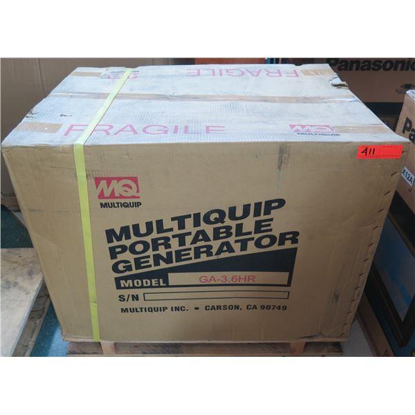 MultiQuip GA36HR Portable Generator 3600 W New in Box