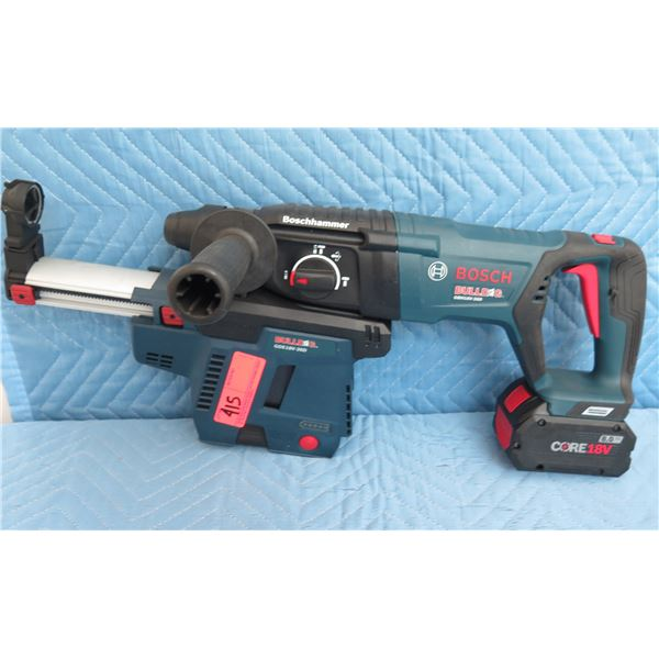 Bosch Bulldog GBH18V26D Rotary Hammer SDS Plus w/ Dust Extractor & 8-Hour Battery