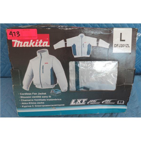 Makita Cordless Fan Jacket L Model DFJ201ZL New in Box