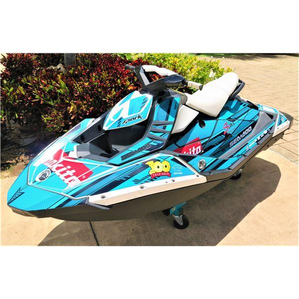 2015 Sea Doo Spark Jet Ski - Unused!! Makita-Themed!