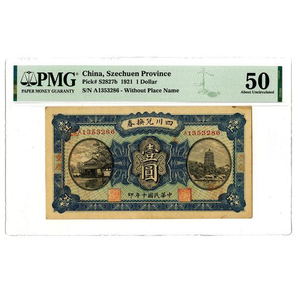 Szechuen Province, 1921 Issued Banknote