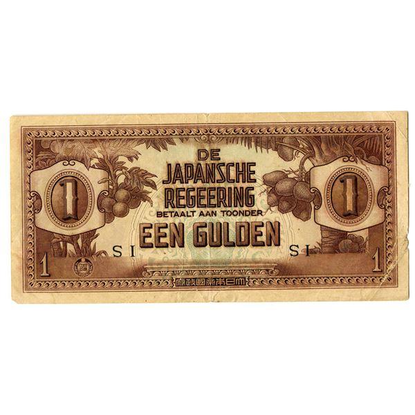Dutch East Indies, 1942 WWII Japanese Invasion Error Banknote