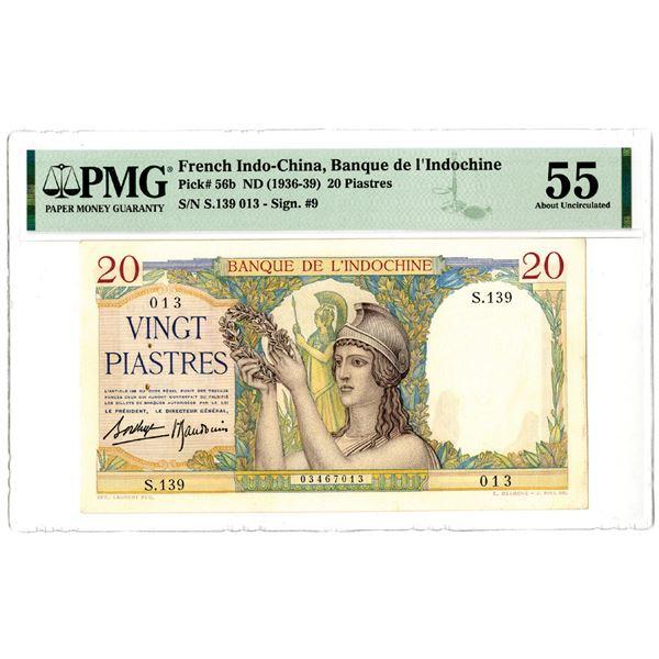 Banque de l'Indochine, ND (1936-39) Issued Banknote