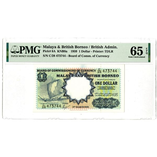 Board of Commissioners of Currency, 1959 Issued Banknote
