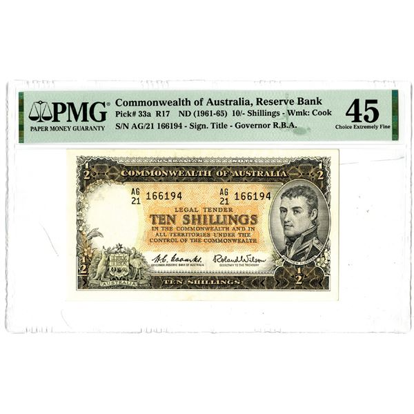 Commonwealth of Australia, ND (1961-65) Issued Banknote