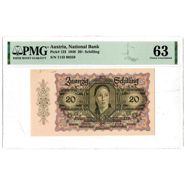 National Bank of Austria, 1946 Issued Banknote