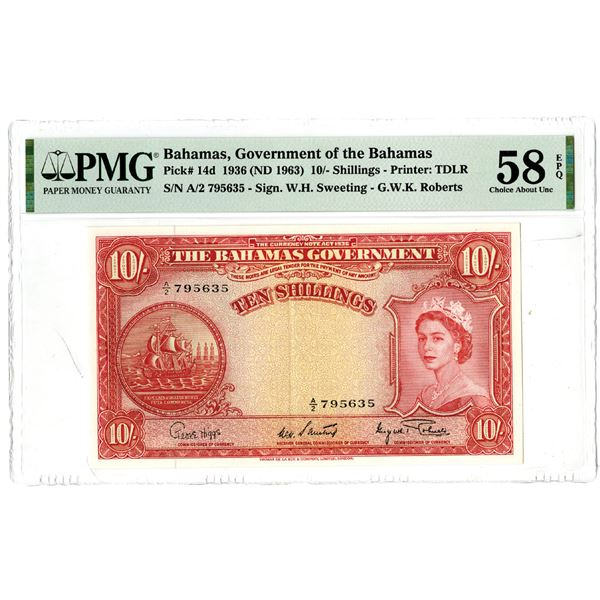 Government of the Bahamas, 1936 (ND 1936) Issued Banknote