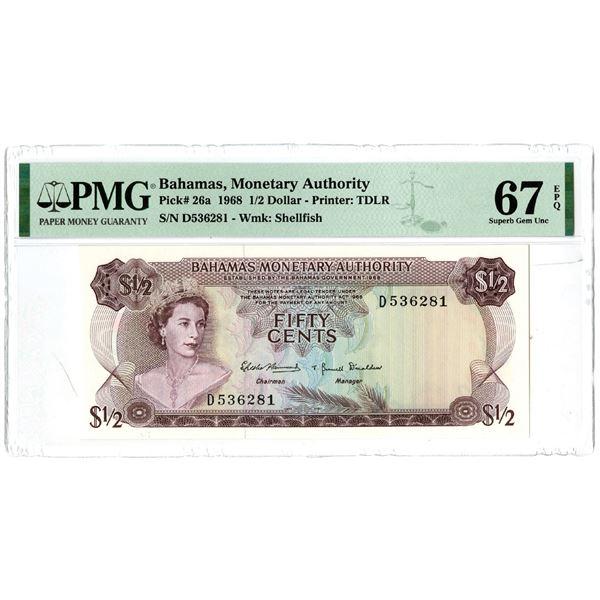 Bahamas Monetary Authority, 1968 Issued Banknote