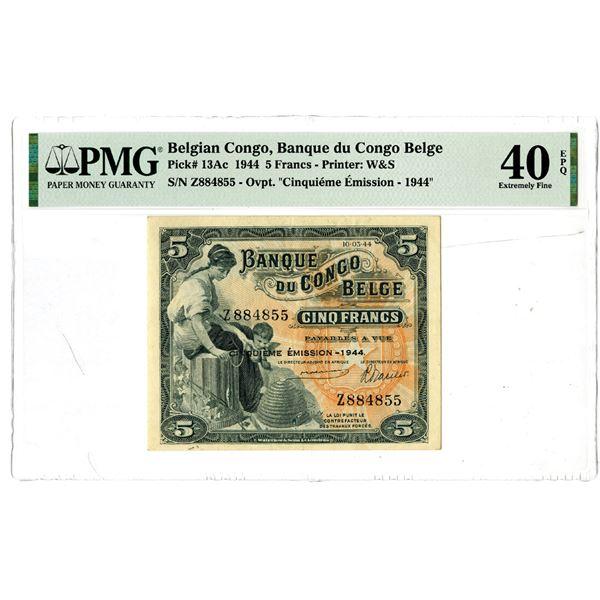 Banque du Congo Belge, 1944 Issued Banknote