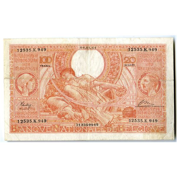 Banque Nationale de Belgique, 1944 Issued Banknote