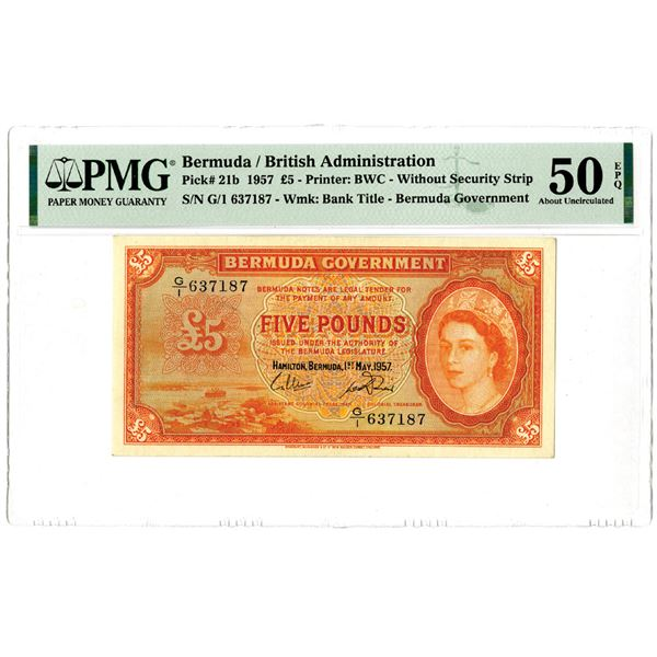 Bermuda Government, 1957 Issued Banknote
