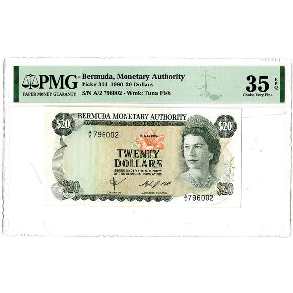 Bermuda Monetary Authority, 1986 Issued Banknote