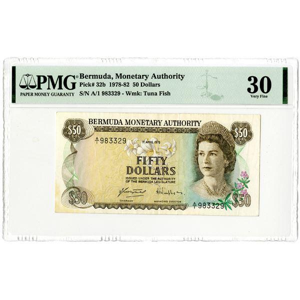 Bermuda Monetary Authority, 1978-82 Issued Banknote