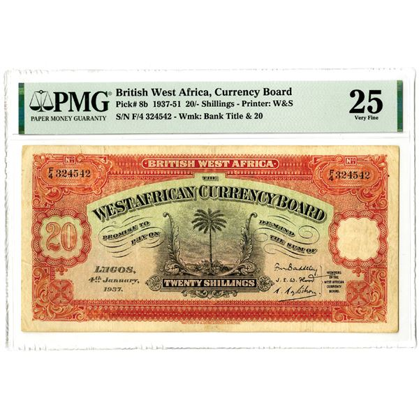 West African Currency Board, 1937-51 Issued Banknote