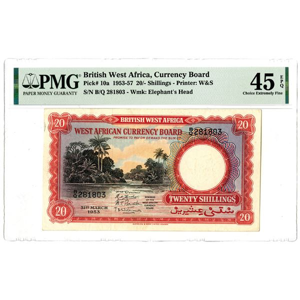 West African Currency Board, 1953-57 Issued Banknote
