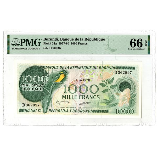 Banque de la Republique du Burundi, 1977-80 Issued Banknote