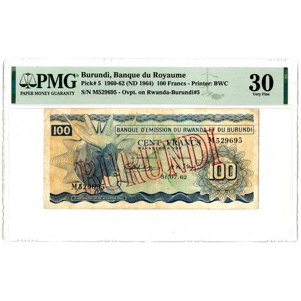Banque du Royaume, 1960-62 (ND 1964) Issued Banknote