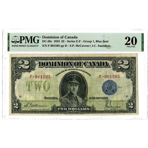 Dominion of Canada, 1923 Issued Banknote