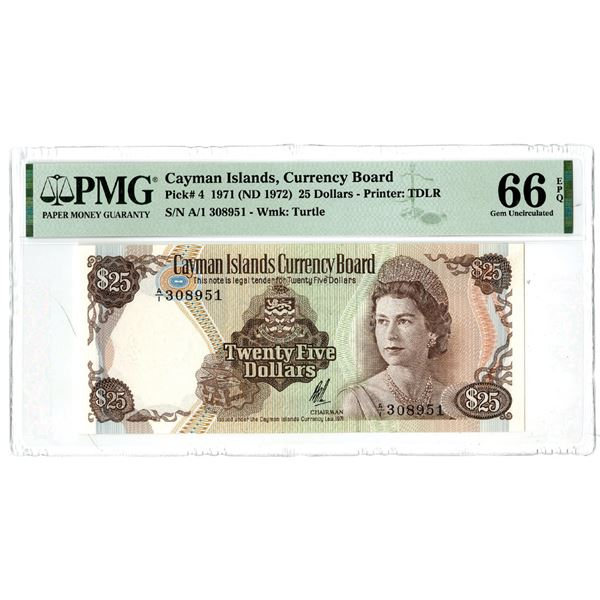 Cayman Islands Currency Board, 1971 (ND 1972) Issued Banknote