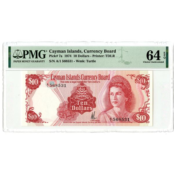Cayman Islands Currency Board, 1974 Issued Banknote