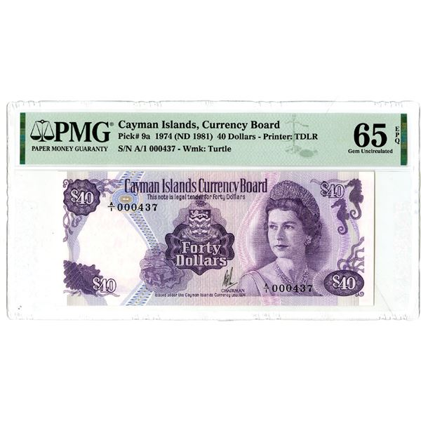 Cayman Islands Currency Board, 1974 (ND 1981) Issued Banknote
