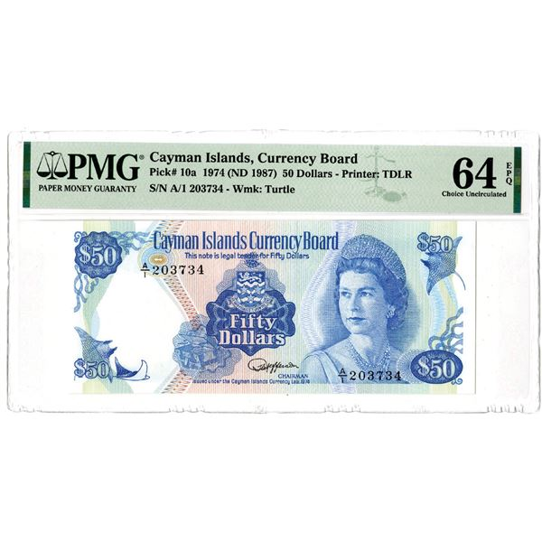 Cayman Islands Currency Board, 1974 (ND 1987) Issued Banknote
