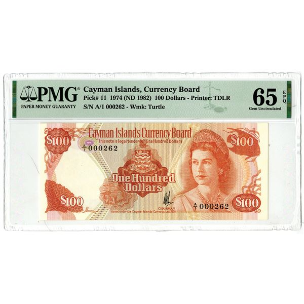 Cayman Islands Currency Board, 1974 (ND 1982) Issued Banknote