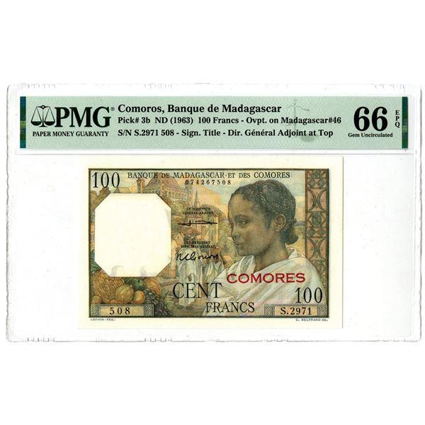 Banque de Madagascar et des Comores, ND (1963) Issued Banknote