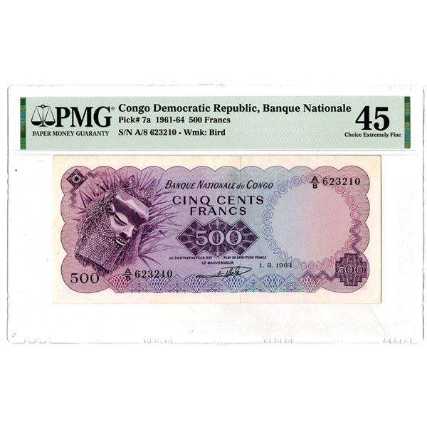 Banque Nationale du Congo, 1961-64 Issued Banknote