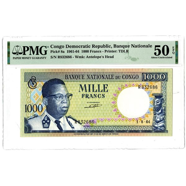 Banque Nationale du Congo, 1964 Issued Banknote