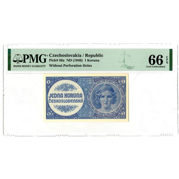 Republika Ceskoslovenska, ND (1946) Issued Banknote