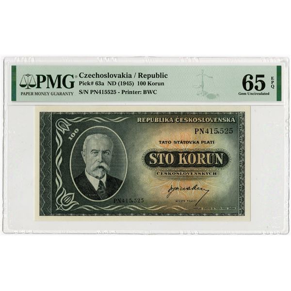 Republika Ceskoslovenska, ND (1945) Issued Banknote