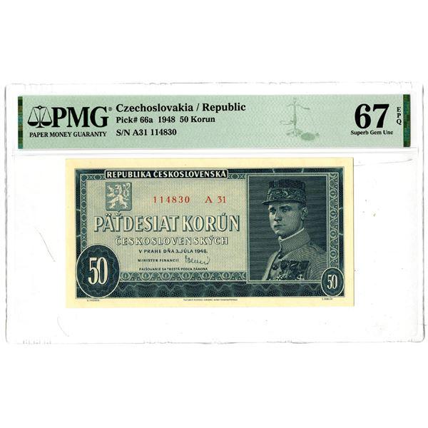 Republika Ceskoslovenska, 1948 Issued Banknote