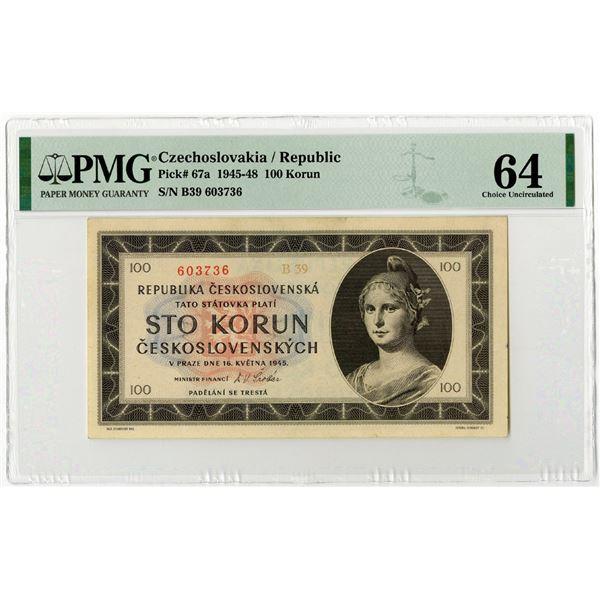 Republika Ceskoslovenska, 1945-48 Issued Banknote