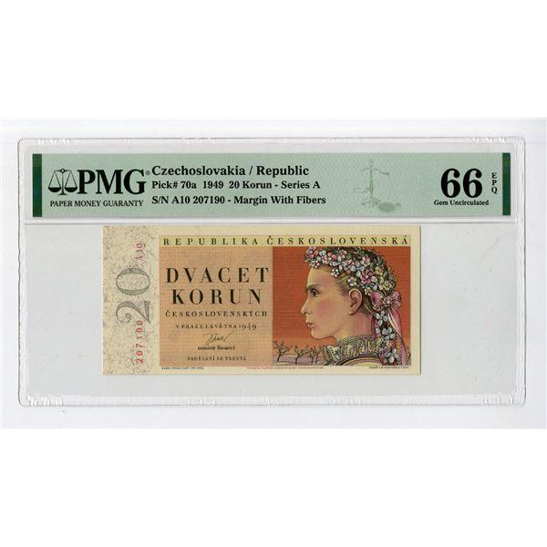 """Republika Ceskoslovenska, 1949 """"Top Pop"""" Issued Banknote"""