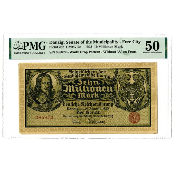 Senate of the Municipality - Free City, 1923 Issued Banknote