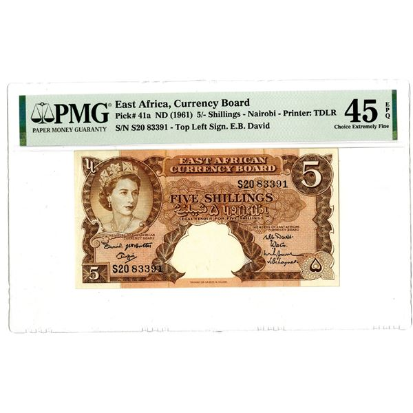 East African Currency Board, ND (1961) Issued Banknote