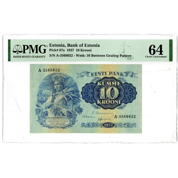 Bank of Estonia, 1937 Issued Banknote